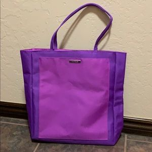 Clinique purple and pink tote